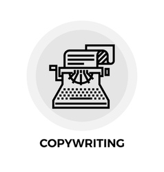Copywriting Line Icon vector