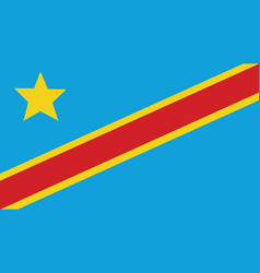 Democratic republic of the congo flag for vector