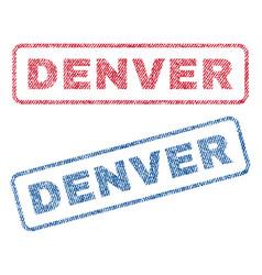 Denver textile stamps vector
