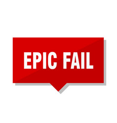Epic fail red tag vector