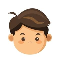 Face of boy icon vector
