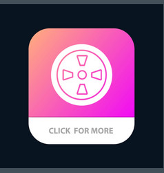 Fan turbine wind mobile app button android vector