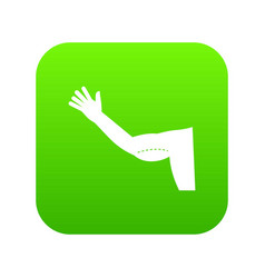 flabby arm cosmetic correction icon digital green vector image