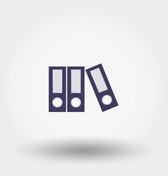 flat folder icon vector image