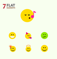 Flat icon gesture set frown have an good vector