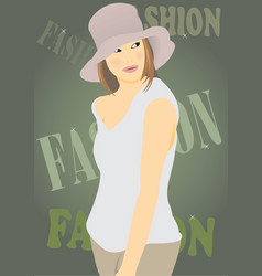 For fashion magazines vector