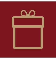 Gift box icon Present symbol Flat vector
