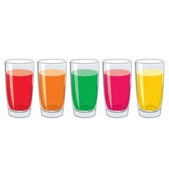 glasses with tasty fresh juice vector image