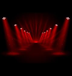 Glowing red spotlights vector