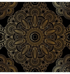 Gold mandala pattern vector