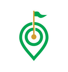 golf spot logo vector image