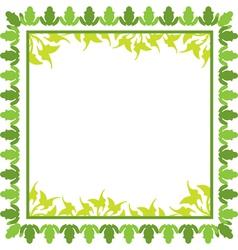 green floral frame vector image