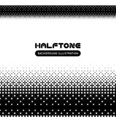 Halftone background vector image