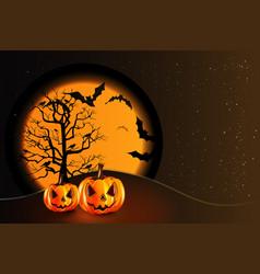 halloween pumpkin party background vector image