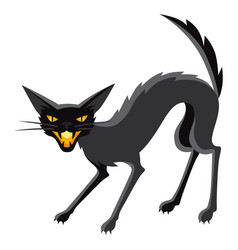 happy halloween angry cat vector image