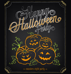 happy halloween party invitation background vector image