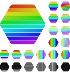 Hexagon Logo Set vector