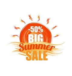 hot summer sale template banner vector image