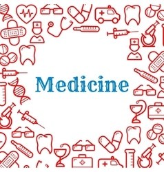 Icons of equipment for medicine and healthcare vector image