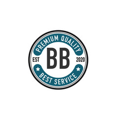 initial letter bb elegance logo design template vector image