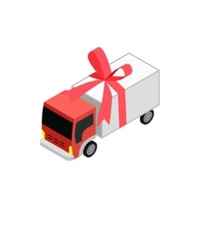 Isometric toy truck vector image