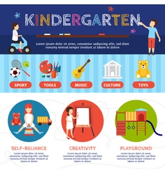 Kindergarten infographic set vector