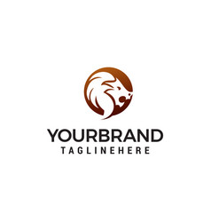 lion head logo design concept template vector image