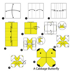 Make origami a cabbage butterfly vector