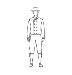 Man single icon in outline styleman vector