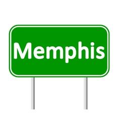 Memphis green road sign vector