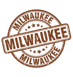 Milwaukee brown grunge round vintage rubber stamp vector