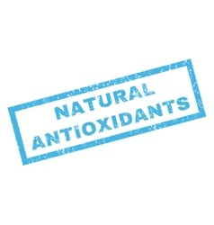 Natural Antioxidants Rubber Stamp vector