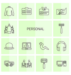 personal icons vector image