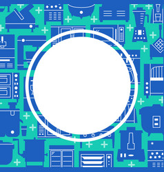Professional kitchen equipment concept background vector
