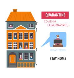 Quarantine stop coronavirus epidemic design vector