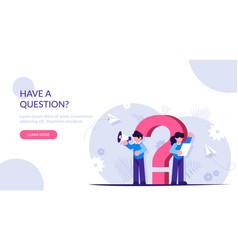 Question mark faq concept support staff will vector