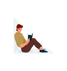 read book boy reading books vector image