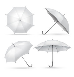 realistic umbrella white rain or sun open vector image