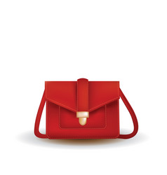 red woman bag vector image