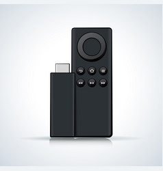 Remote control on white background vector