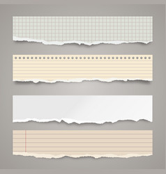 ripped colored paper strips realistic crumpled vector image