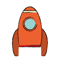 Rocket spaceship travel icon vector