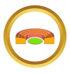 Semicircular stadium icon vector