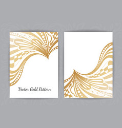 set of black and gold design templates for vector image