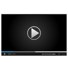 Simple Dark Web Player vector image