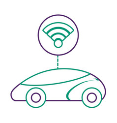 Smart or intelligent car connection wifi vector