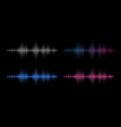 sound waves music frequency abstract electronic vector image