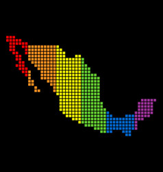 Spectrum dotted lgbt mexico map vector
