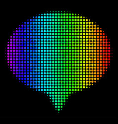 Spectrum pixel hint icon vector