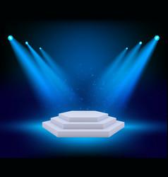 Spot lighting podium theatre studio awards vector